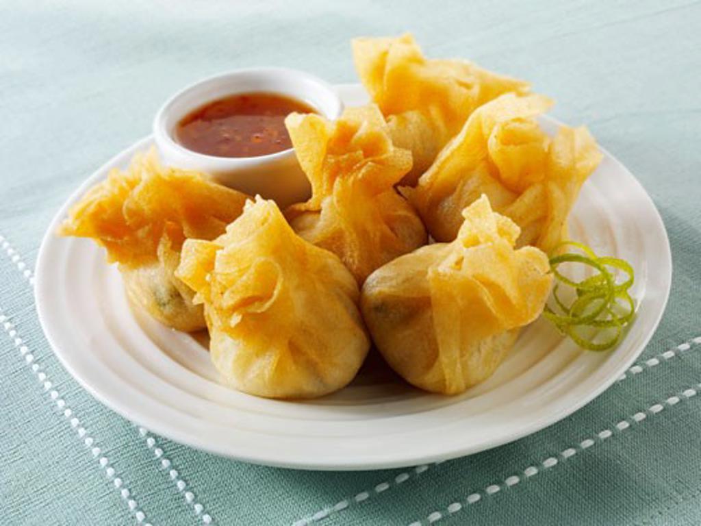 Wontons with dip (Asia) : Stock Photo