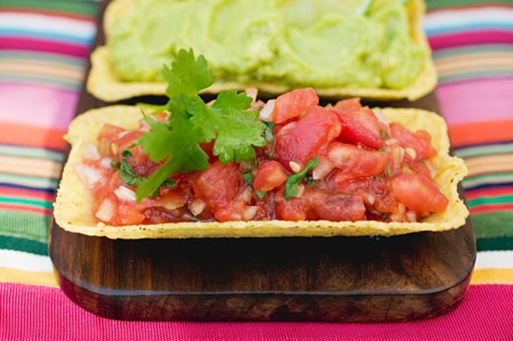 Tomato salsa and guacamole (Mexico) : Stock Photo