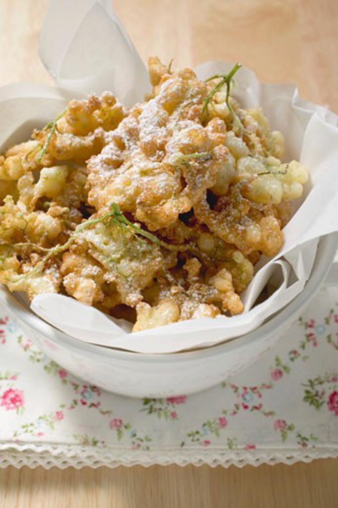 Elderflower fritters : Stock Photo