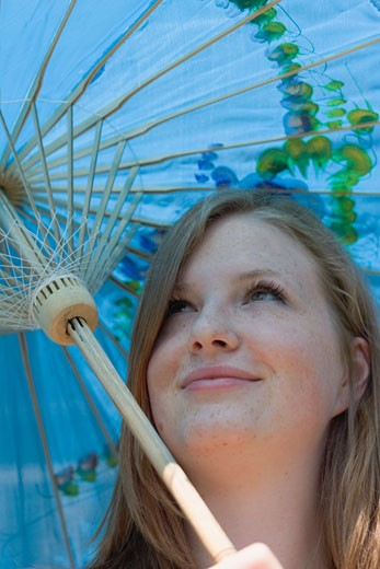 Stock Photo: 1532R-35371 Woman with parasol