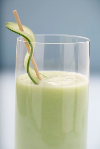 Savoury cucumber drink (detail) : Stock Photo