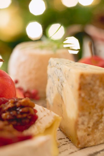 Cheese board (Christmas) : Stock Photo