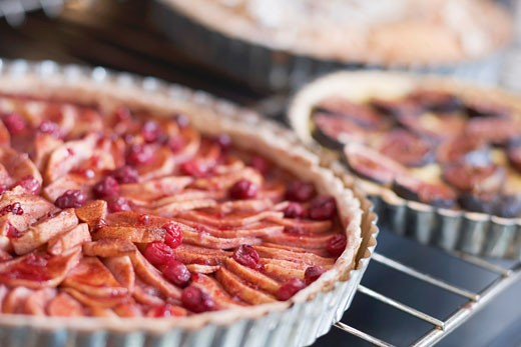 Three different fruit tarts : Stock Photo