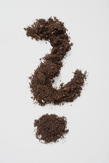 Soil forming a question mark : Stock Photo