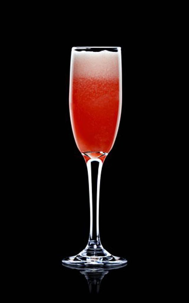 American Glory (Sparkling wine, grenadine, orange juice : Stock Photo