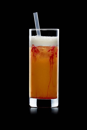 Zombie (Cocktail made with rum, fruit juices, ice cubes) : Stock Photo
