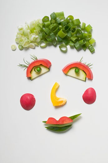 Amusing vegetable face : Stock Photo