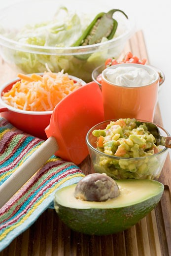 Ingredients for Mexican dishes : Stock Photo
