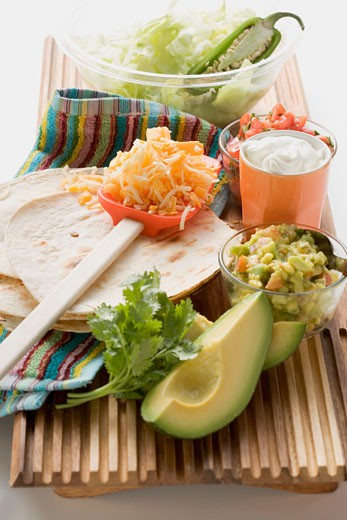 Stock Photo: 1532R-41460 Ingredients for Mexican dishes