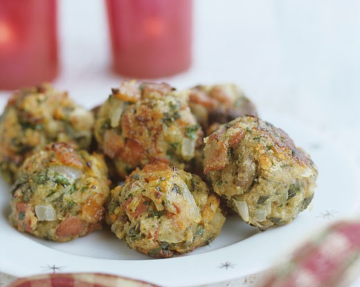 Meatballs with herbs : Stock Photo