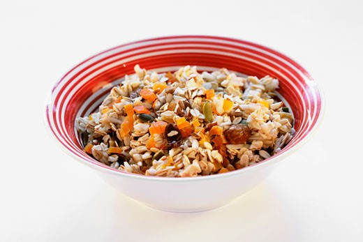 Muesli with dried fruit and pumpkin seeds : Stock Photo