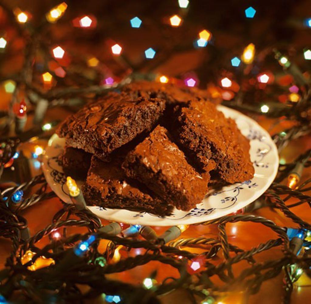 Christmas Brownies : Stock Photo