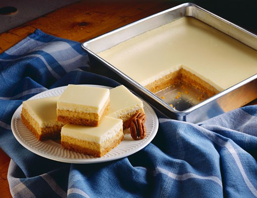 Cream Cheese Dessert Bars : Stock Photo