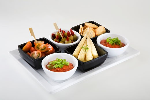 Tray of antipasti : Stock Photo