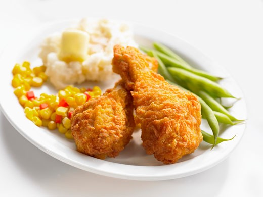 Breaded chicken drumsticks : Stock Photo