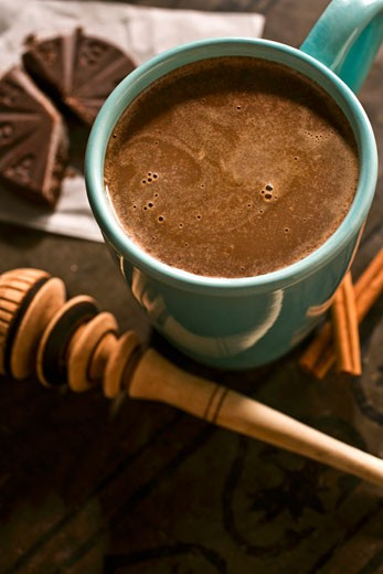 Stock Photo: 1532R-52834 Mug of Mexican Hot Chocolate