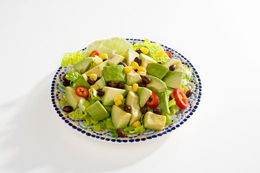 Stock Photo: 1532R-52849 Plate of Avocado Salad with Lime and Chilies