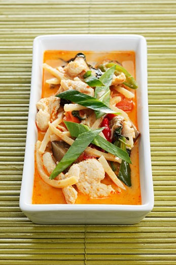 Red Thai turkey curry : Stock Photo