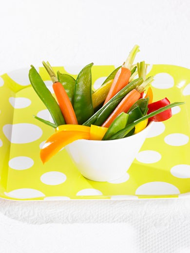 Blanched vegetables : Stock Photo