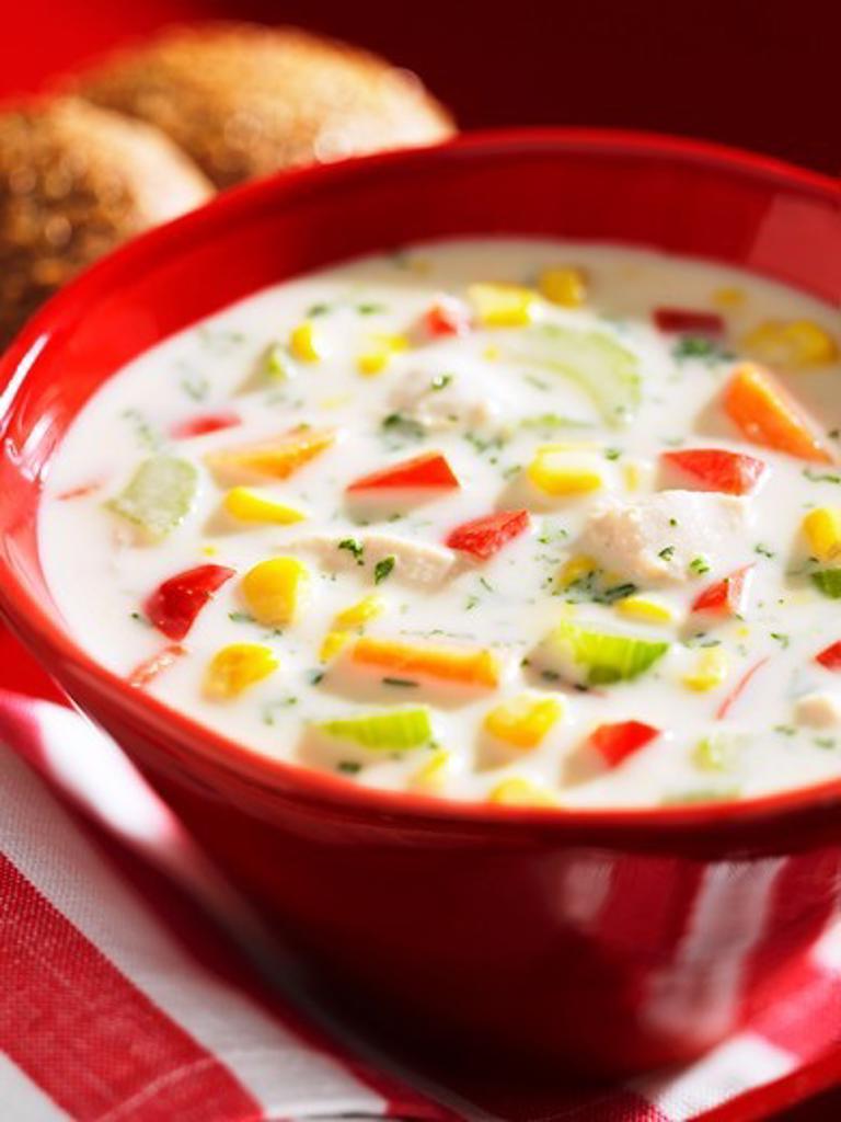 Stock Photo: 1532R-58437 Chicken corn chowder (USA)