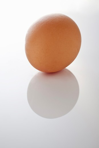 Stock Photo: 1532R-58547 A brown egg