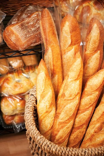 Stock Photo: 1532R-60299 Assorted Loaves for Sale at Bread Market