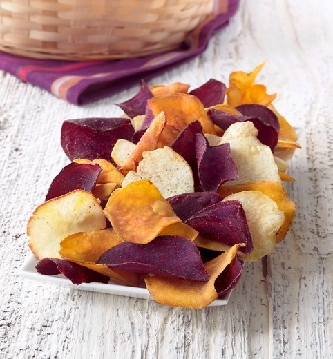 Gourmet Chips Seasoned with Sea Salt : Stock Photo