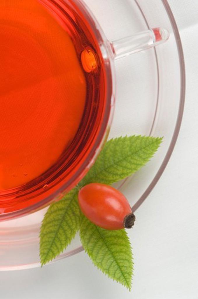 Rose hip tea and rose hip : Stock Photo