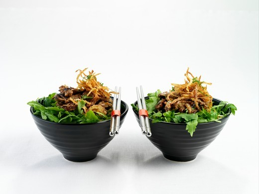 Asian beef salad : Stock Photo