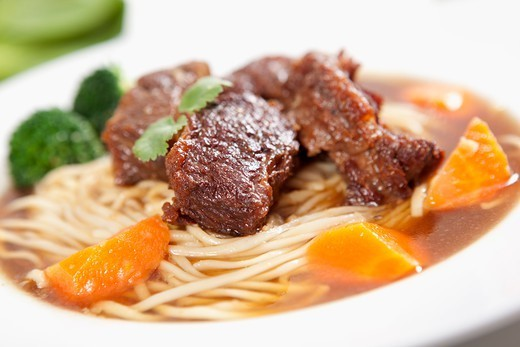Beef noodles : Stock Photo