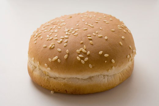 Stock Photo: 1532R-9562 Hamburger roll with sesame