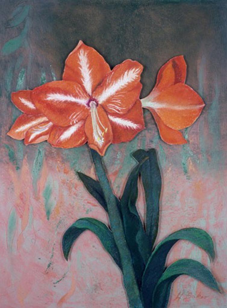 Triple Bloom  2003 Helene Baker (20th C. American) Pastel : Stock Photo