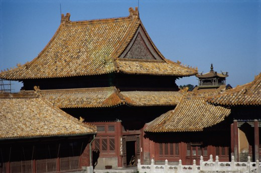 High section view of a palace, Forbidden City, Beijing, China : Stock Photo