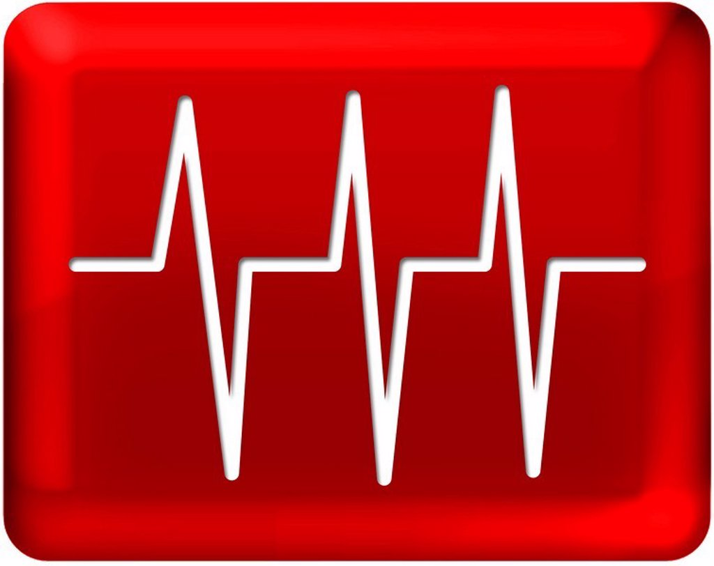 Pulse signals with red background : Stock Photo