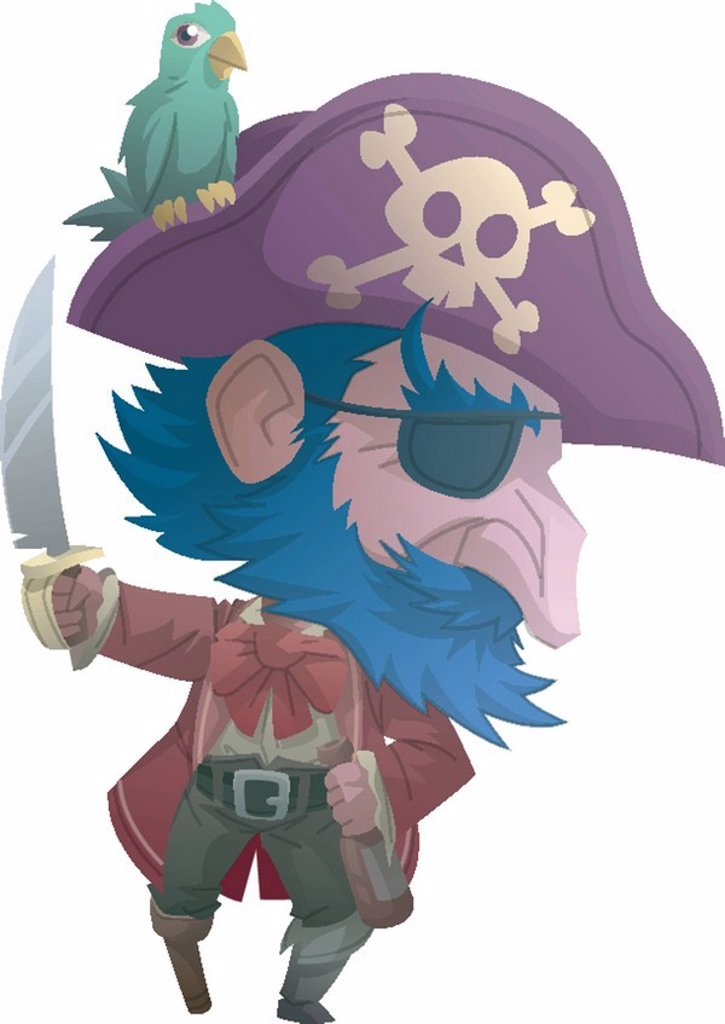 Portrait of a pirate : Stock Photo