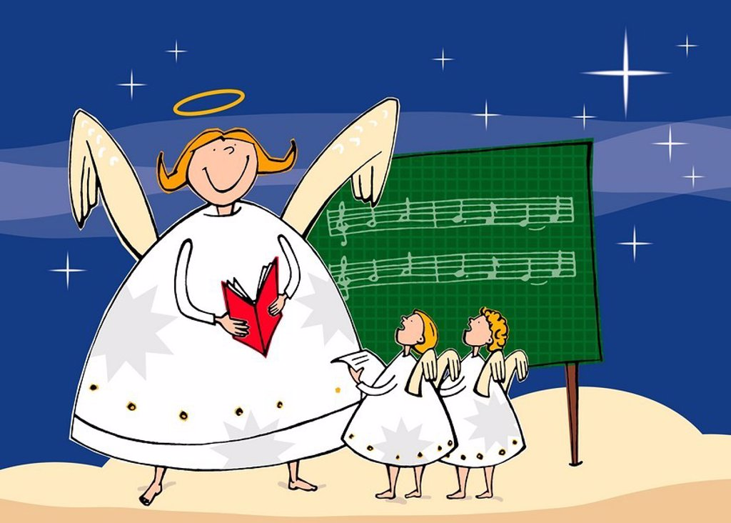 Stock Photo: 1538R-51325 choir of angels