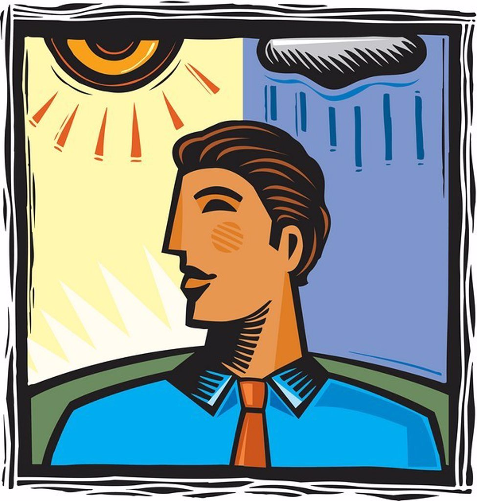 Moody businessman : Stock Photo