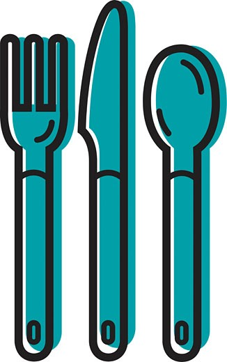 Illustration of cutlery : Stock Photo