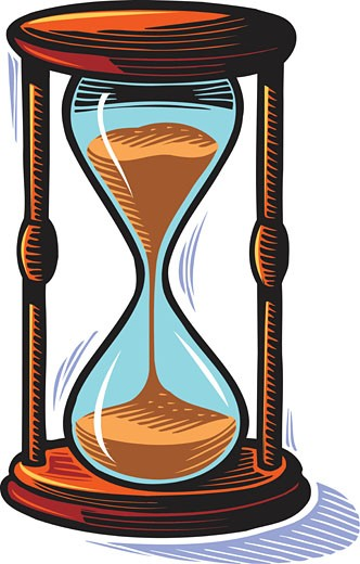Stock Photo: 1538R-51855 Illustration of an hourglass