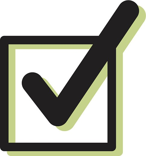 Stock Photo: 1538R-51891 Illustration of a checkbox