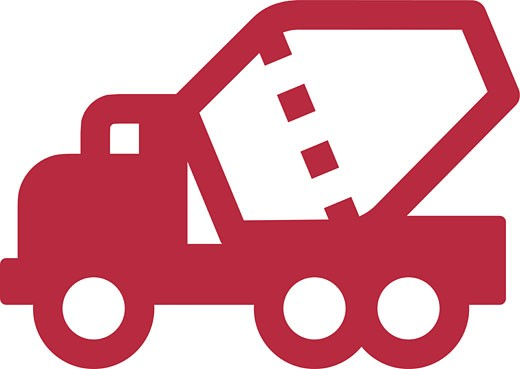 An illustration of a concrete truck : Stock Photo