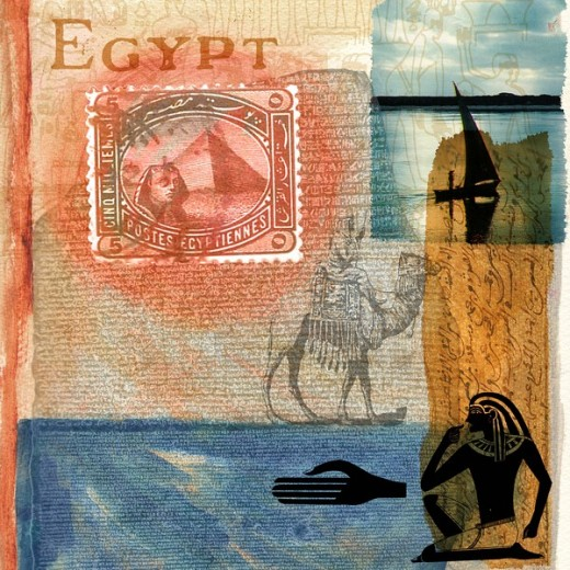 A poster promoting tourism in Egypt : Stock Photo