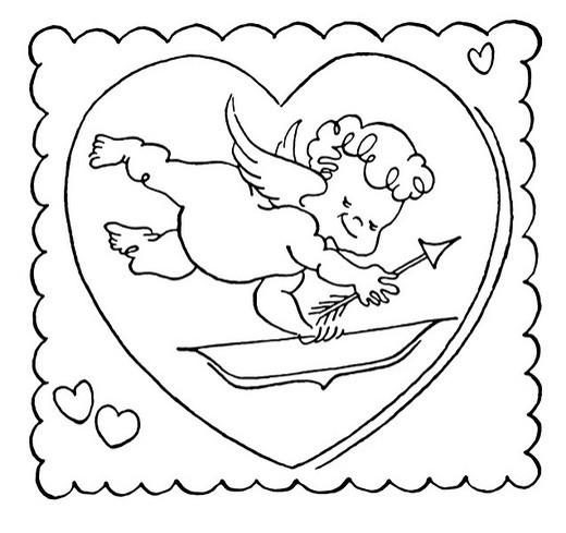 A cartoon illustration of a Valentine : Stock Photo