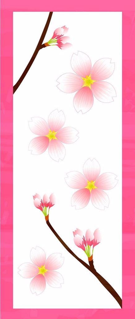 Illustration of Pink Blossoms : Stock Photo