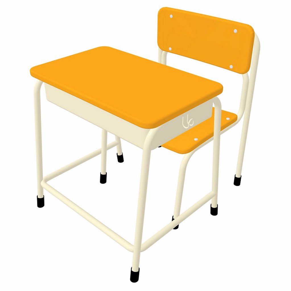 A 3D style image of a school desk : Stock Photo