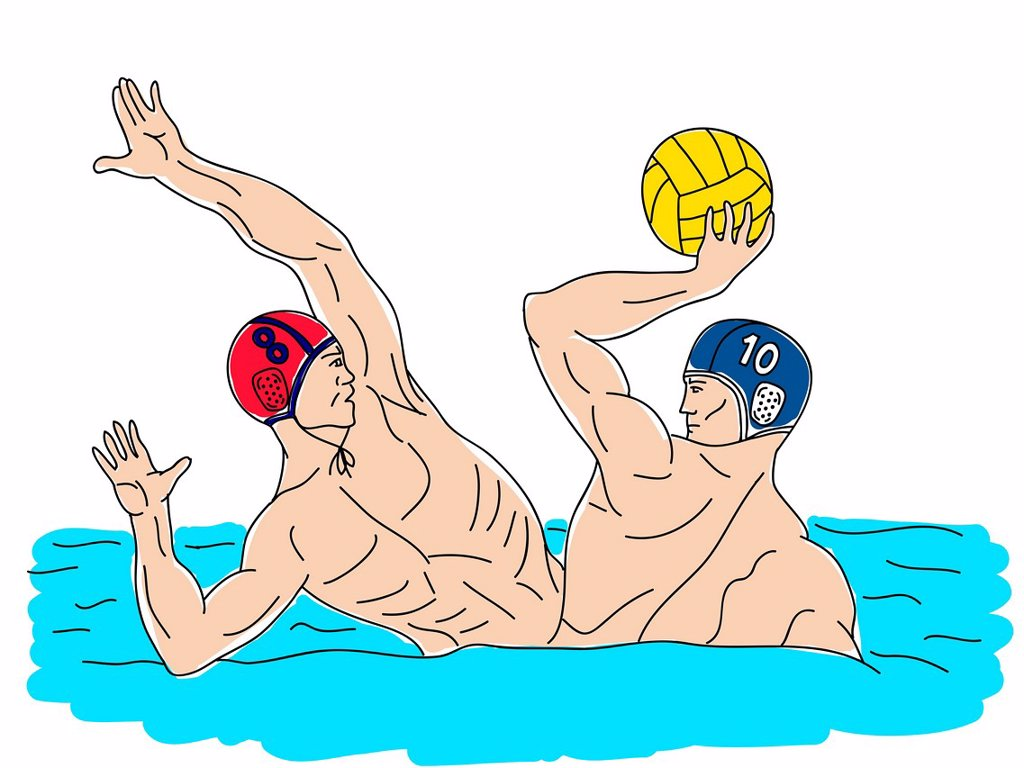Stock Photo: 1538R-68694 Water polo players