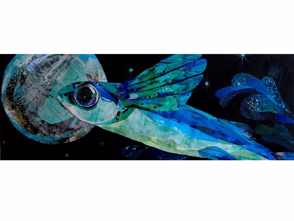Stock Photo: 1538R-69038 A fish with wings collage