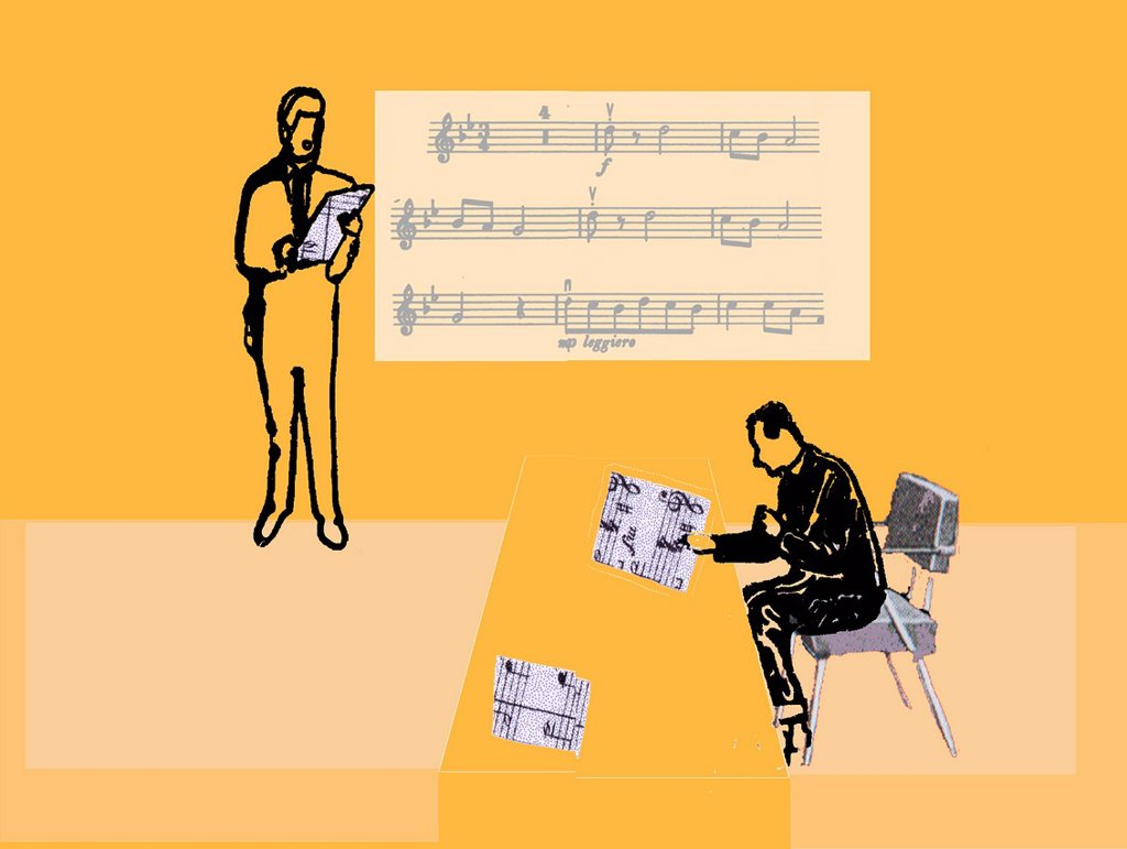Stock Photo: 1538R-69329 People holding sheet music