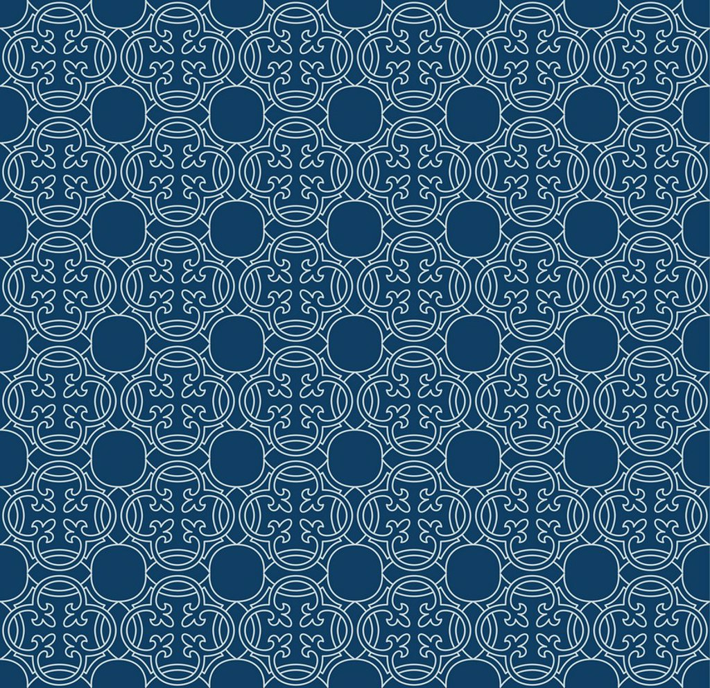 A decorative pattern in teal : Stock Photo