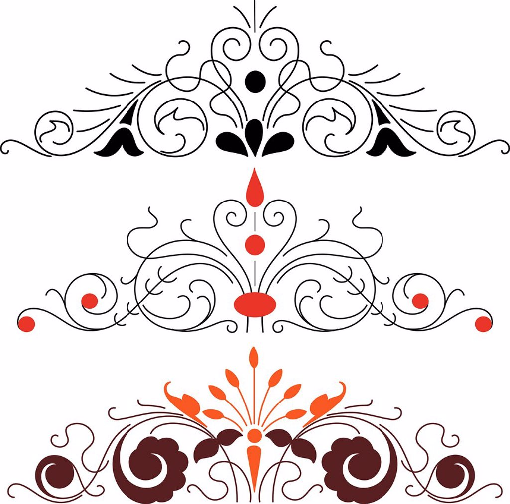 Stock Photo: 1538R-69867 Swirl decorative elements